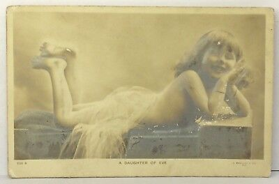 PostCard A Daughter Of Eve Young Girl Pose Used Stamp Posted 10-25-1907 Vintage