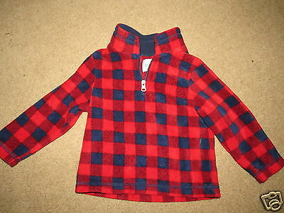 SUPER SOFT TCP Childrens Place red & blue plaid pullover - kids / boys 2T