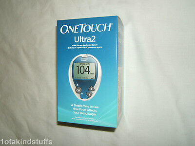 1 Brand New Sealed! One Touch Ultra 2 Blood Glucose Meter Kit Strips Exp 10/19!!