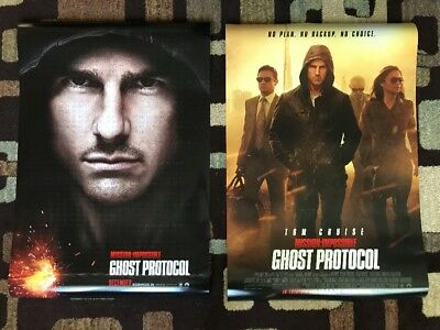 Mission Impossible Ghost Protocol Original Movie Poster 27X40 DS Lot Of 2 2011