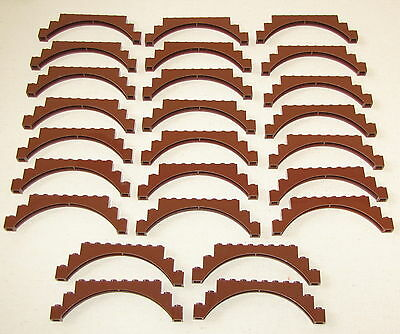 Lego Lot Of 25 New Reddish Brown 1 X 12 X 3 Castle Arch Brick Pieces