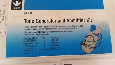 Ideal 33-804 Tone Generator and Amplifier Kit For Electrician Maintenance     SH