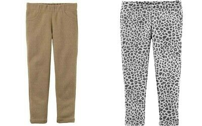 Carter's Toddler Girls' TWO Pair Pants - Gold Sparkle & Gray Animal Print NWT