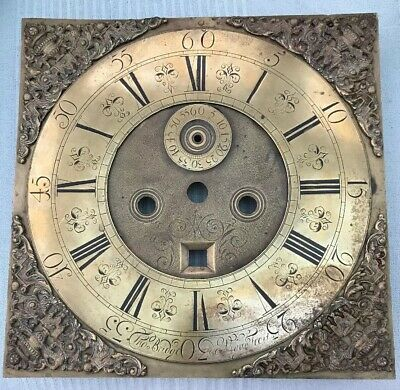 Antique LONGCASE GRANDFATHER CLOCK Brass Dial By Thomas Bridge Wigan C1730