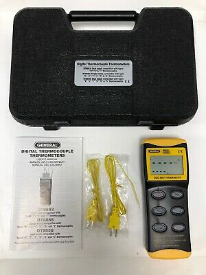 General DT8856 Digital Thermocouple Thermometer Black & Yellow Unit NEAR MINT