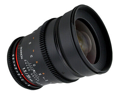 Rokinon Cine 35mm T1.5 AS IF UMC Full Frame Cine Lens for Sony E-Mount