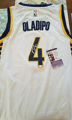 b5b4e230462b Victor Oladipo Signed Jersey JSA COA Indiana Pacers Autographed White FULL  SIG
