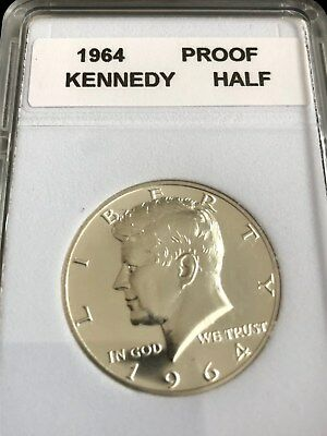 "1964-Proof.Kennedy Silver Half Dollar With ""Mint Luster"""