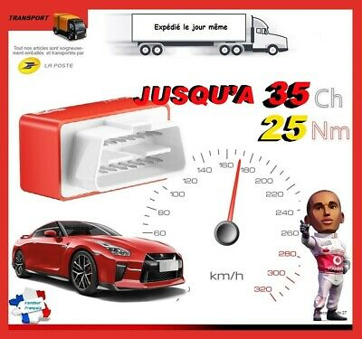 BOITIER ADDITIONNEL CHIP DIESEL PUCE OBD2 TUNING RENAULT CLIO 3 1.5 DCi 70 CV
