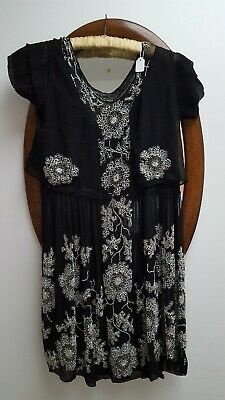 1920s Art Decco Beaded Embroidered Flapper Dress