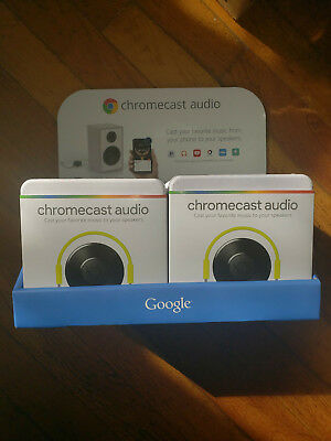 Google Chromecast Audio Lot of 6 Case With Display Media Streamers Brand New
