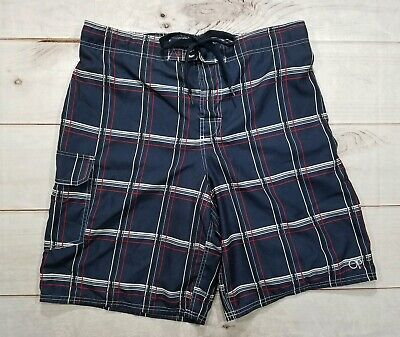 3aafbd5d742be Ocean Pacific OP Mens Blue/Red Plaid Swim Trunks Shorts Size Large 36-38