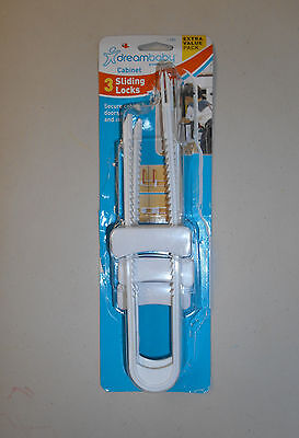 DREAMBABY Cabinet Sliding Locks, Extra Value Pack of 3 - PreOwned