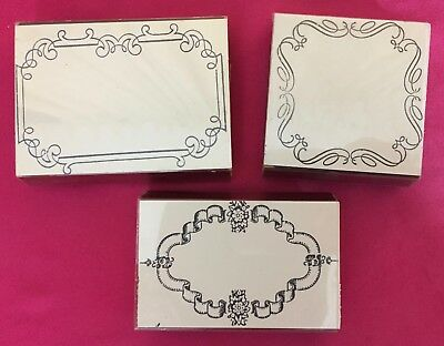 Rubber Stamps Lot Friendly Impressions Borders medium size