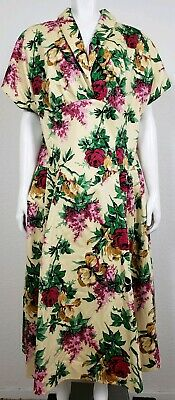 4d92b262922 Pinup Couture Womens Dress Plus Size 3X Floral Short Sleeve Casual Party  Long