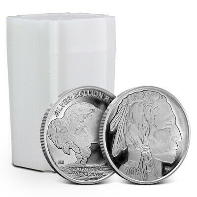 Tube of 20 - 1 oz Highland Mint (HM) Buffalo Silver Rounds (Our Choice Date)