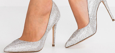 66e8d140216  90 size 7.5 Steve Madden Daisie Crystal Rhinestone Pointed Toe Pump Heels  shoes