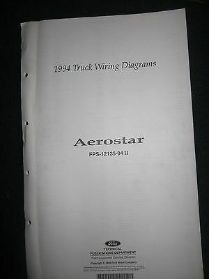 1994 ford aerostar electrical wiring diagram manual schematic
