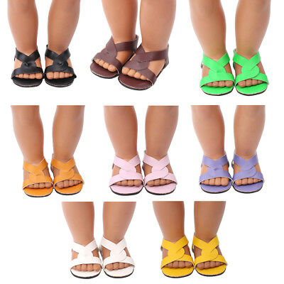 1 Pair doll shoes doll sandals for 18 inch 43cm dolls acces Christmas gift  BS