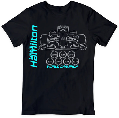 Lewis Hamilton 2019 T-Shirt 6x World Champion Mercedes F1 racing Adult/kids
