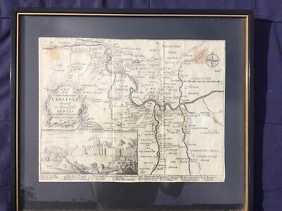 18th C map - Counties Adjacent to Carlisle by G Smith showing Route of Rebels