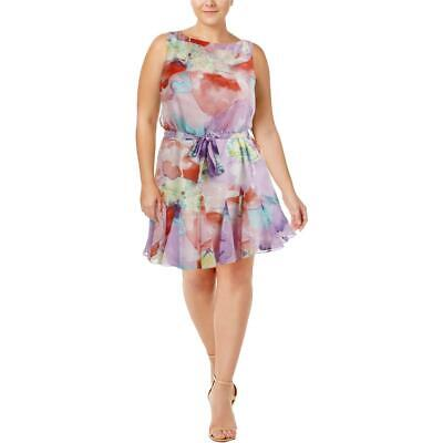 Lauren Ralph Lauren Womens Pink Floral Print Casual Dress 16 BHFO 3846
