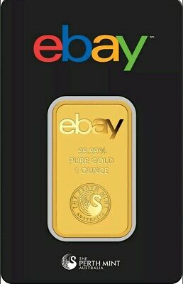 eBay & Perth Mint 1oz Gold Bar .9999 Fine in Assay