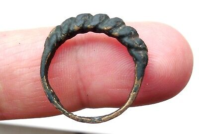 Viking Ancient Bronze Hammered Ring Circa 800 AD Amazing Rare!