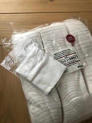 BN Genuine Muji 9x7cm Large Cotton untreated wicks Cosmetic Mask 1 Pad Sample