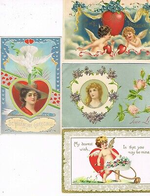 Lot of 48 ANTIQUE EARLY 1900s HOLIDAY Postcards      * VALENTINE'S DAY *