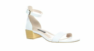 ee09ca14d033 Nine West Womens Xuxa White Leather Ankle Strap Heels Size 6 (269068)