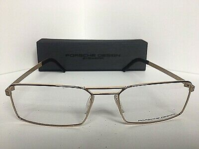 e8c626a627db New PORSCHE DESIGN P 8282 P8282 C 55mm Gold Men s Eyeglasses Frame Italy