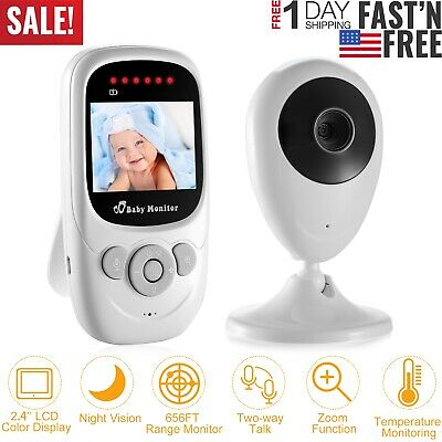 "2.4GHz Video Baby Monitor Digital Camera Night Vision 2.4"" LCD Two-way Talk Zoom"