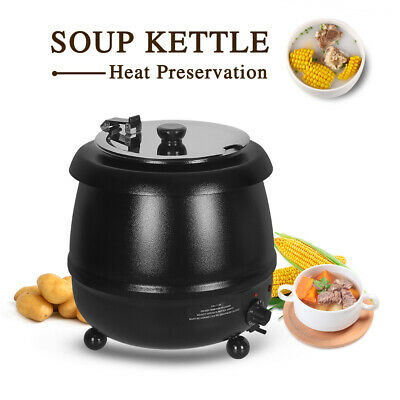 Soup Kettle 10L electric bolier black 400W 110V ETL buffet party SSbowl US stock