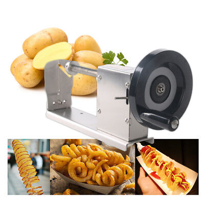 Spiral Potato Tornado Cutter Stainless Steel Manual Curly Fries Twister Slicer