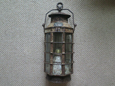 PRICES PATENT CANDLE Co GOVERNMENT EMIGRANT SHIP LANTHORN 1854 SHIP'S LANTERN