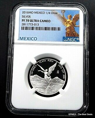 ☆☆ 2016 Mo Mexico 1/4 oz Silver Proof Libertad NGC PF70 UCAM - Libertad Label ☆☆