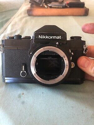 Vintage Nikon Nikkormat Black Film Camera Body