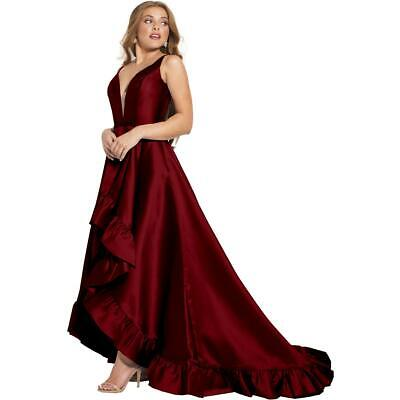 e69208d493 Jovani 57491A Red Prom Open Back Sleeveless Evening Dress Gown 0 BHFO 9984