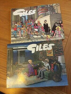 2 X Giles Cartoon Annuals 1972 & 1983