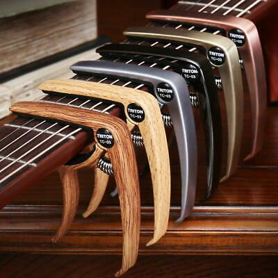 Quick Change Grain Clamp Key Capo Wood For Acoustic Electric Guitar Bass