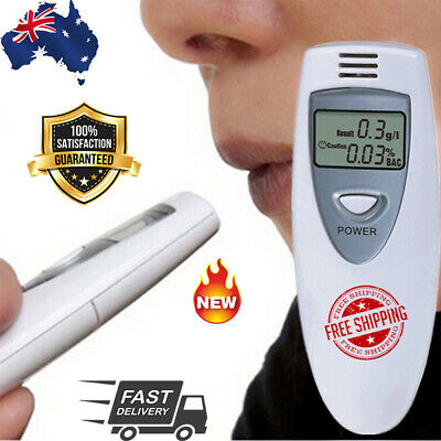 Alcohol Breath-tester Portable Breathalyzer Blowing Analyzer Mini Detector TF AU