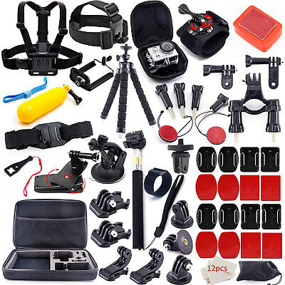 Accessories Kit for Gopro Hero 7 6 5 4 Outdoor Action Sports Camera Mount 50in1