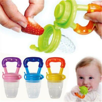 3 colors Portable Baby Food Fruit Nipple Feeder Pacifier Silicone Feeding Tool