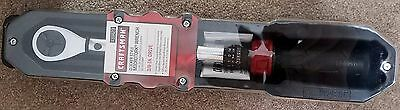 """Craftsman Micro-Clicker Torque Wrench 3/8"""" Drive 25 to 250 in. lbs. New!"""