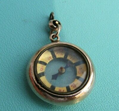 Antique Victorian Edwardian Rose Gold 9ct. Compact Fob Charm