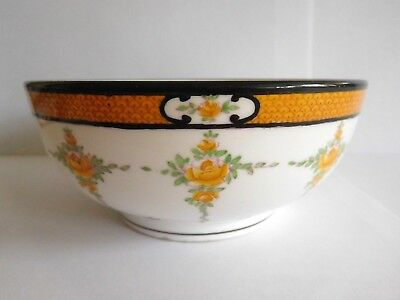 Early 20Th Century Mintons Yellow Roses Sugar Bowl