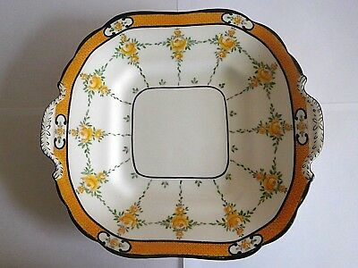 Early 20Th Century Mintons Yellow Roses Dish