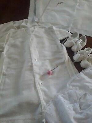 Vintage Baby Wear, Flanelette Nighties, Bibs, Shoes And Pillow Cases