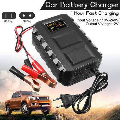 LCD Intelligent 12V 20A Automobile Lead Acid Battery Charger Car Van